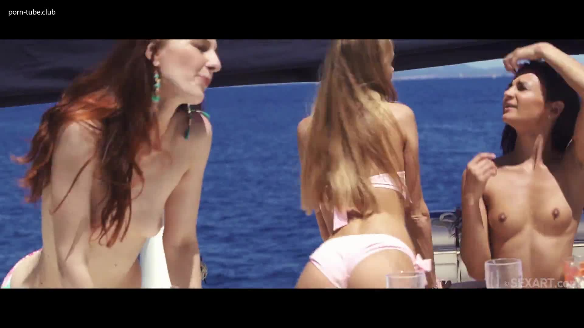 SexArt - Margot A Nancy A And Rosaline Rosa Party Boat Part 1