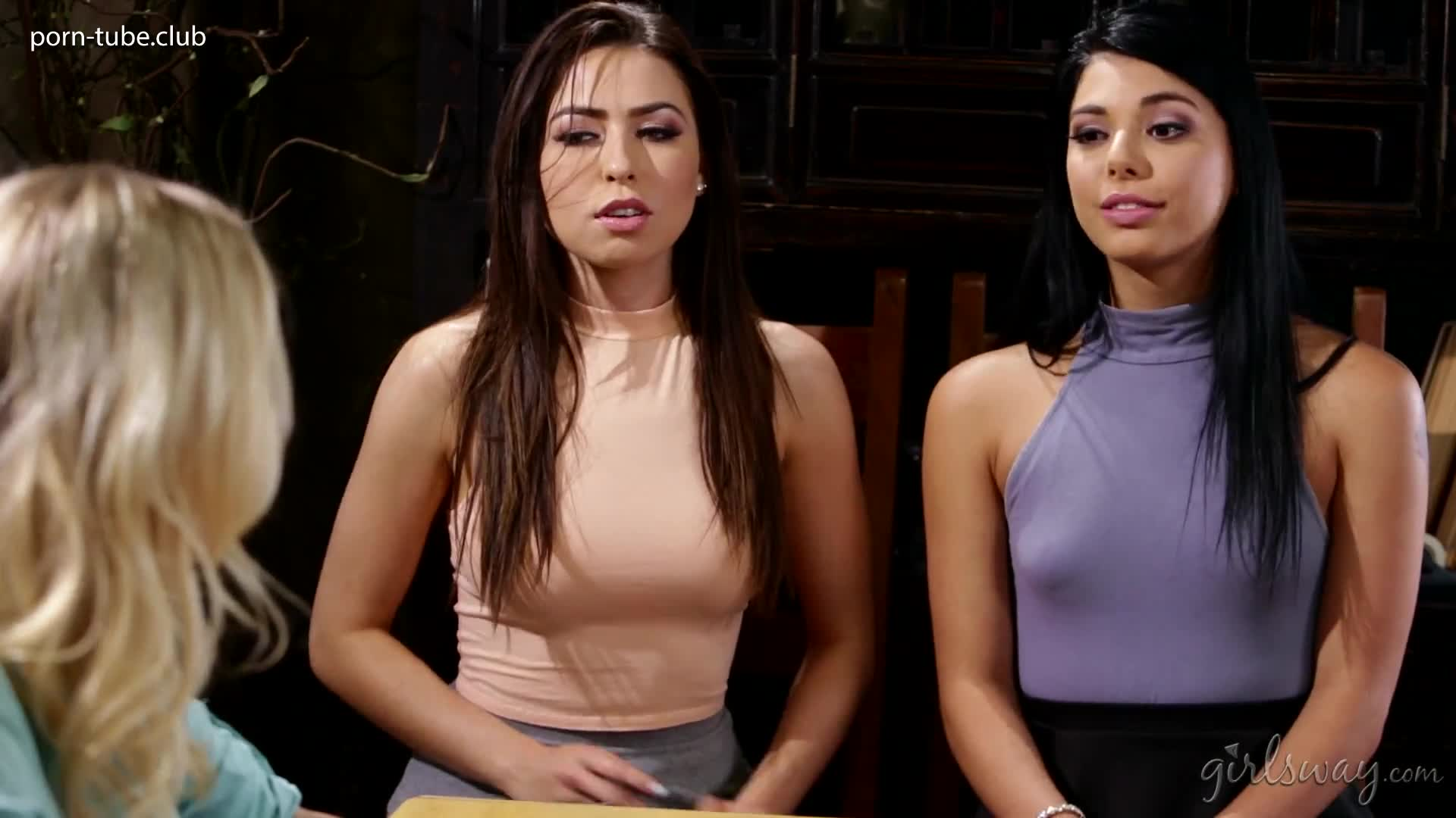 GirlsWay 17.07.16 Katie Morgan Melissa Moore And Gina Valentina Sexting The Teacher Part 2