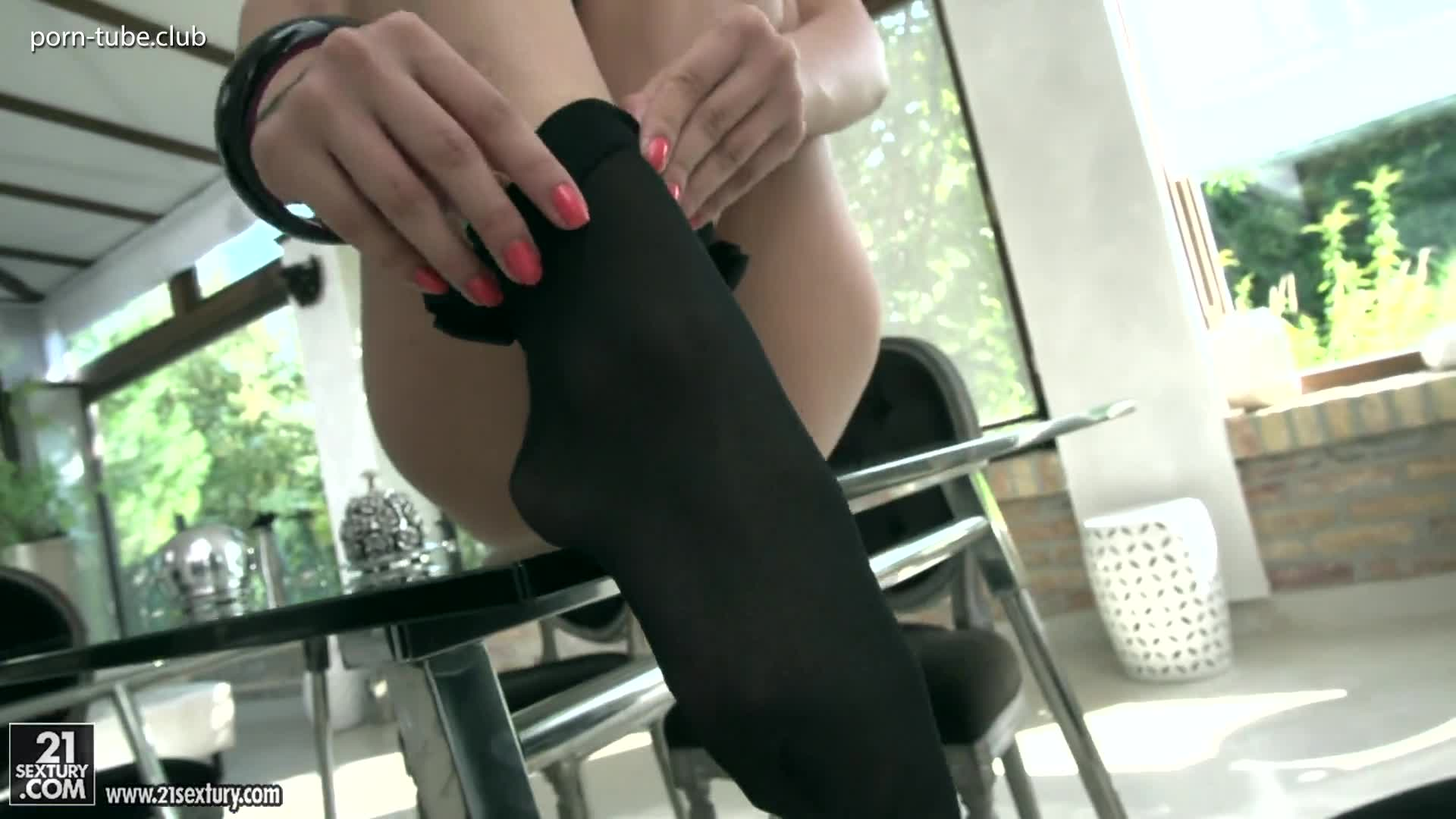 FootsieBabes 18.08.12 Darcia Lee Sheer Socks Beauty