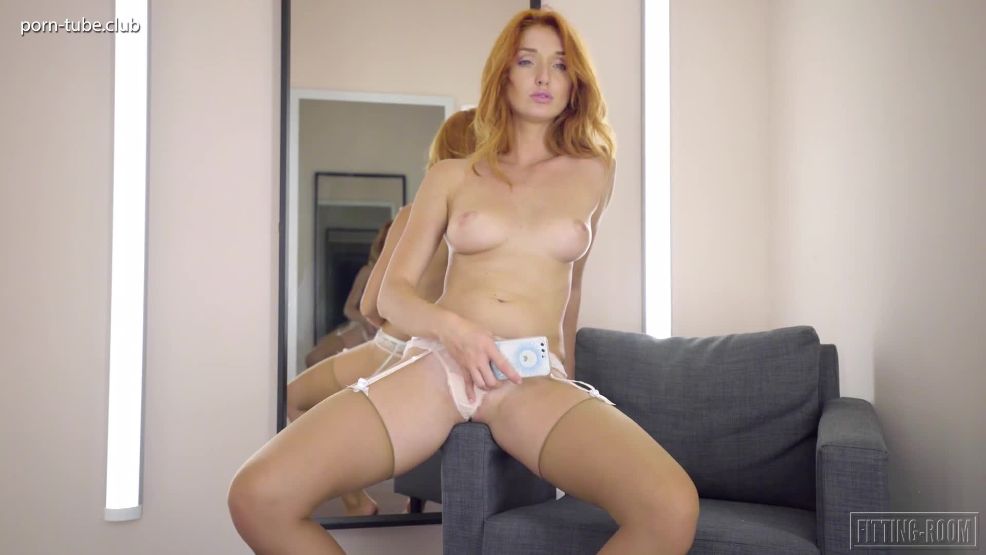 Fitting-Room 20.04.24 Red Fox Anal Plugged Booty Redhead